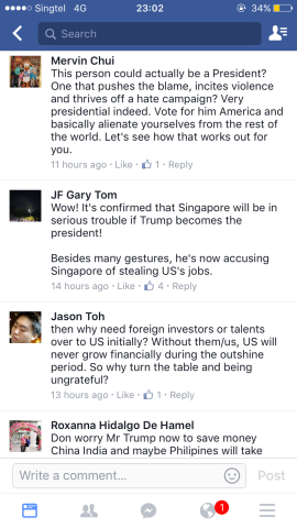 Singaporeans react to Donald Trump  | wishcrys
